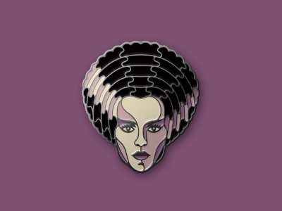 The Bride of Frankenstein Enamel Pin the bride of frankenstein universal monster enamel pin dkng studios nathan goldman dan kuhlken monster frankenstein pin dkng
