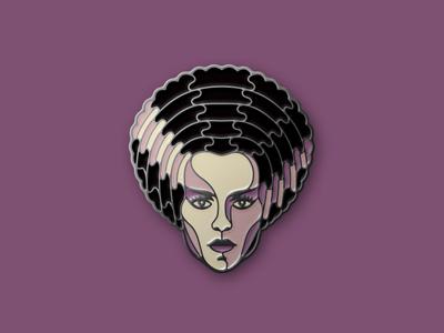 The Bride of Frankenstein Enamel Pin the bride of frankenstein universal monster enamel pin dkng studios nathan goldman dan kuhlken monster frankenstein pin dkng