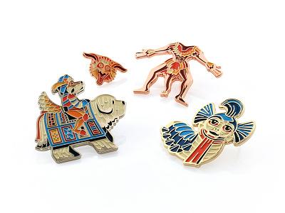 Patches & Pin Expo sir didymus enamel pin dkng studios nathan goldman dan kuhlken worm labyrinth pin dkng