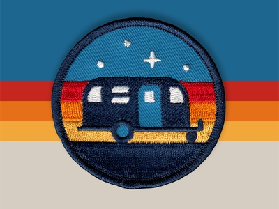 Camper Patch camper airstream icon trailer vector logo badge patch dan kuhlken nathan goldman dkng studios dkng