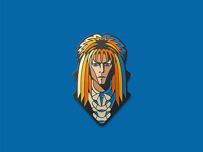 Labyrinth: Jareth Enamel Pin enamel pin goblin king jareth labyrinth dkng dan kuhlken nathan goldman dkng studios