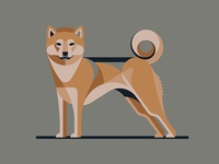Illustration for Designers: Create Your Own Geometric Animal shiba inu dkng studios nathan goldman dan kuhlken geometric dog dkng