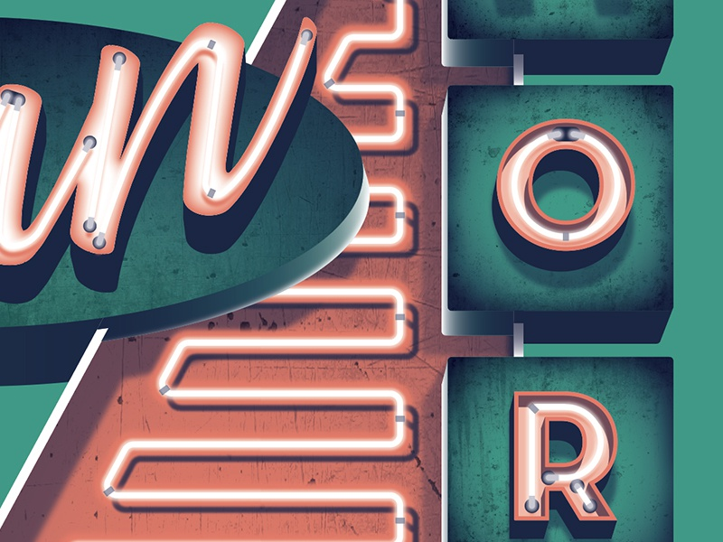 Mystery Project 88 dkng studios nathan goldman dan kuhlken neon sign dkng
