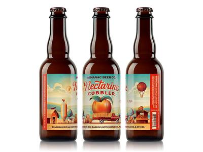 Almanac Beer Co. Nectarine Cobbler Beer Label