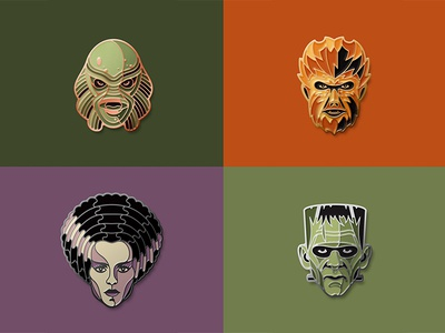 New Universal Monsters Pins