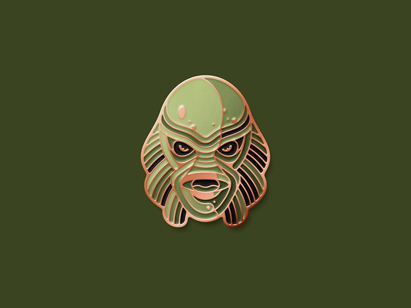 Universal Monsters: Creature From The Black Lagoon Pin gillman swamp thing enamel pin dkng studios nathan goldman dan kuhlken creature dkng