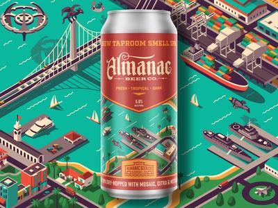 New Taproom Smell IPA Can san francisco dkng studios nathan goldman dan kuhlken dock ocean city isometric packaging beer almanac dkng