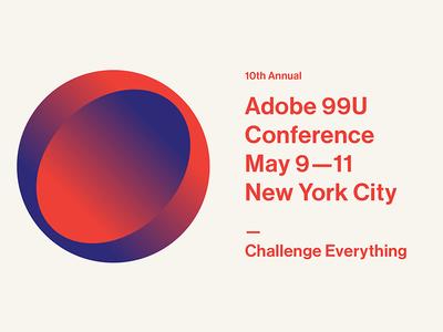 Adobe 99u Conference new york city dkng studios nathan goldman dan kuhlken gradient vector conference design 99u dkng