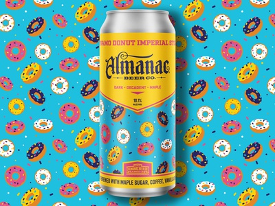 Dynamo Donut Imperial Stout dkng studios nathan goldman dan kuhlken almanac donut stout can beer dkng
