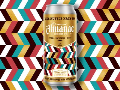 Side Hustle Hazy IPA dkng studios nathan goldman dan kuhlken geometric can packaging beer almanac dkng