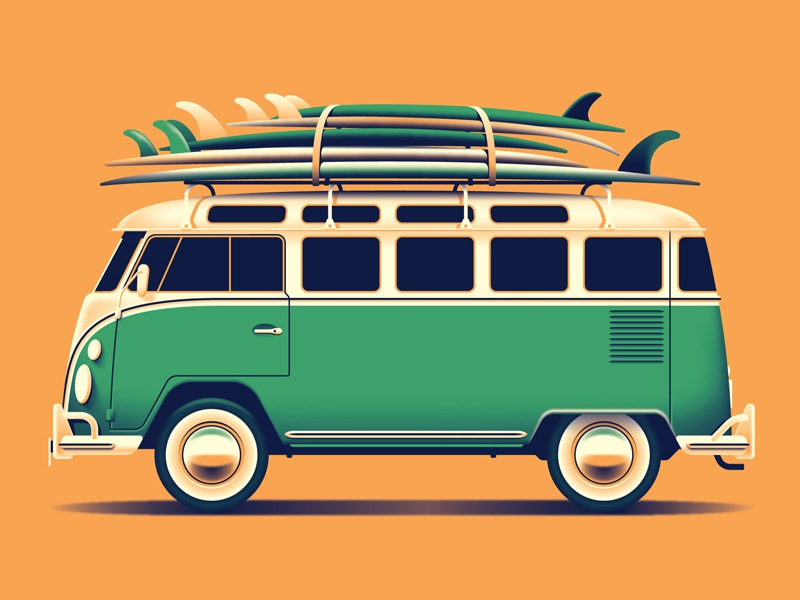 Mystery Project 90.1 vw bus dkng studios nathan goldman dan kuhlken surfboard surfboards car volkswagon bus van dkng