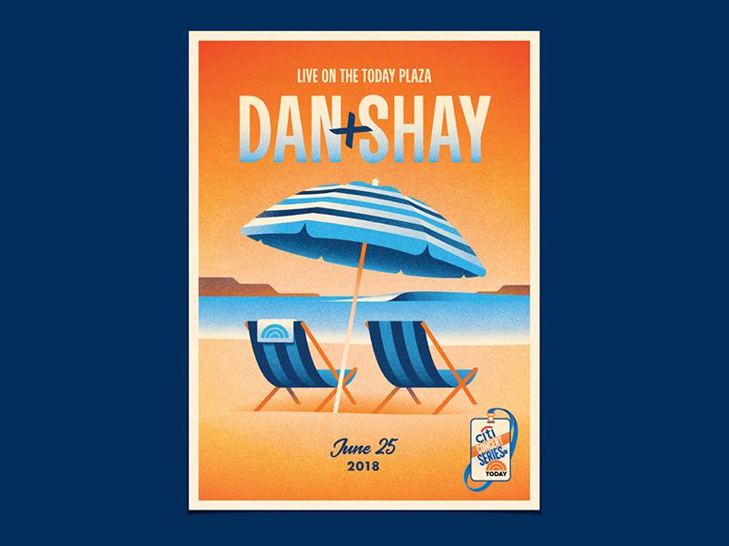 Dan + Shay beach chair dkng studios nathan goldman dan kuhlken summer umbrella ocean beach dkng