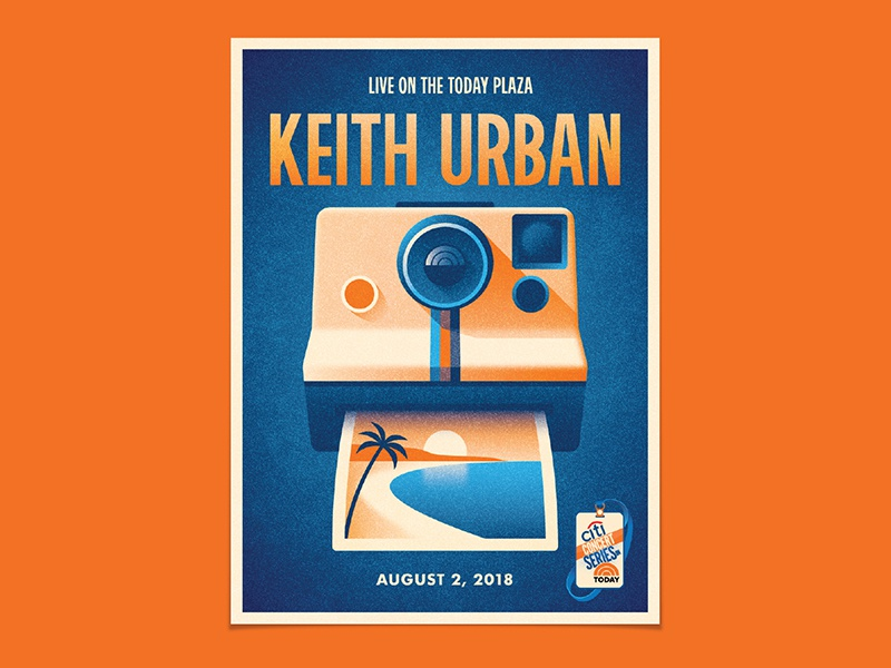 Keith Urban keith urban palm tree dkng studios nathan goldman dan kuhlken sunset beach polaroid camera instagram dkng