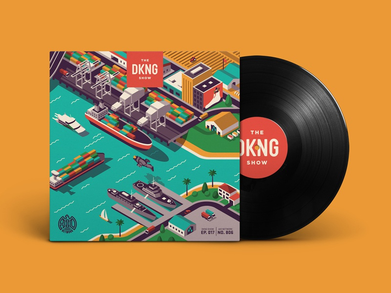 The DKNG Show (Episode 17) vector illustration design podcast san francisco vinyl almanac mural isometric adventures in design dkng studios dkng