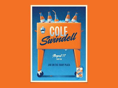 Cole Swindell cole swindell soda bottle cooler geometric dkng studios poster vector dkng nathan goldman dan kuhlken