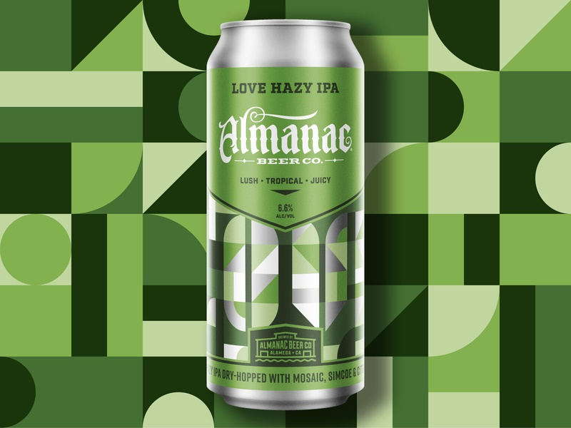 LOVE Hazy IPA beer can ipa beer packagingdesign grid pattern geometry design geometric dkng studios vector dkng nathan goldman dan kuhlken