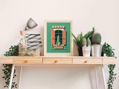 Oaxaca Art Print mexico southwestern cacti succulent cactus texture design illustration art print silkscreen screen print geometric dkng studios poster vector dkng nathan goldman dan kuhlken