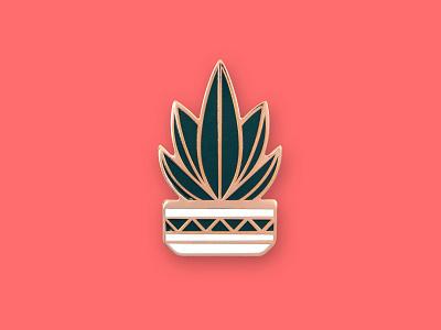 Agave Pin southwestern pot succulent cactus agave enamel pin geometric dkng studios dkng nathan goldman dan kuhlken