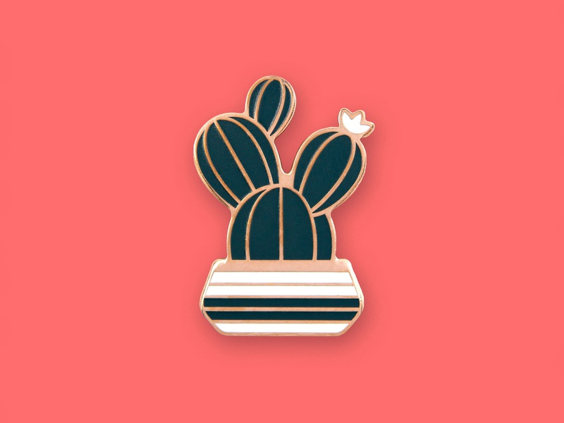 Prickly Pear Pin pot succulent cacti cactus prickly pear icon geometric dkng studios dkng nathan goldman dan kuhlken