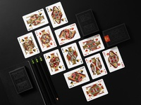 DKNG 'Black Wheel' Playing Cards