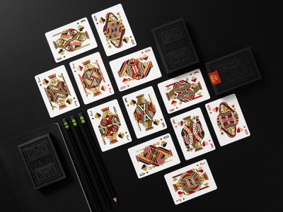 DKNG 'Black Wheel' Playing Cards art of play place king queen jack playingcard playingcards illustration design dkng studios dkng nathan goldman dan kuhlken