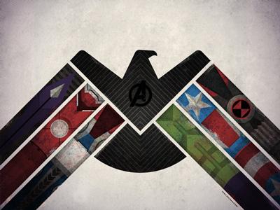 The Avengers // Art Print avengers bird hulk thor hawkeye dan kuhlken nathan goldman art print poster screen print silkscreen iron man black widow captain america