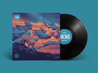 The DKNG Show (Episode 20) vinyl lion mountain lion grand canyon illustration space geometric dkng studios vector dkng nathan goldman dan kuhlken