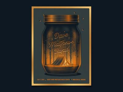 Dave Matthews Band Noblesville Live Trax Poster