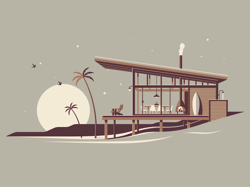 Dkng beach cabin dribbble 01