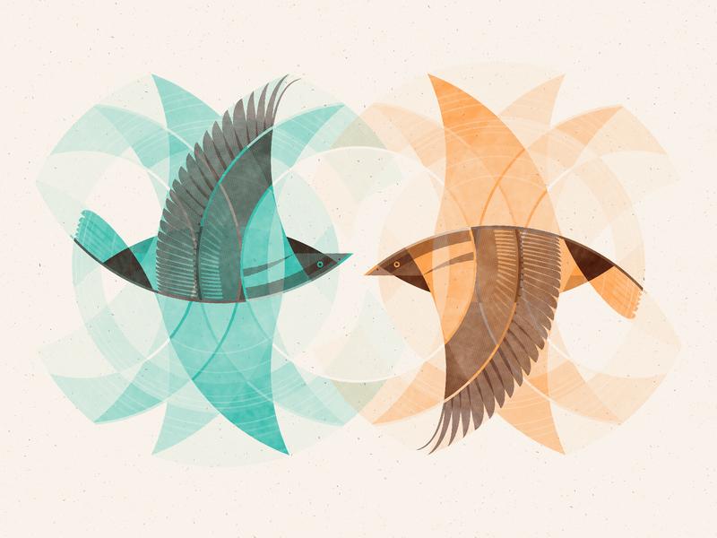 FREE Illustration for Designers Class circle skillshare animal birds bird texture illustration art print silkscreen screen print geometric dkng studios poster vector dkng nathan goldman dan kuhlken