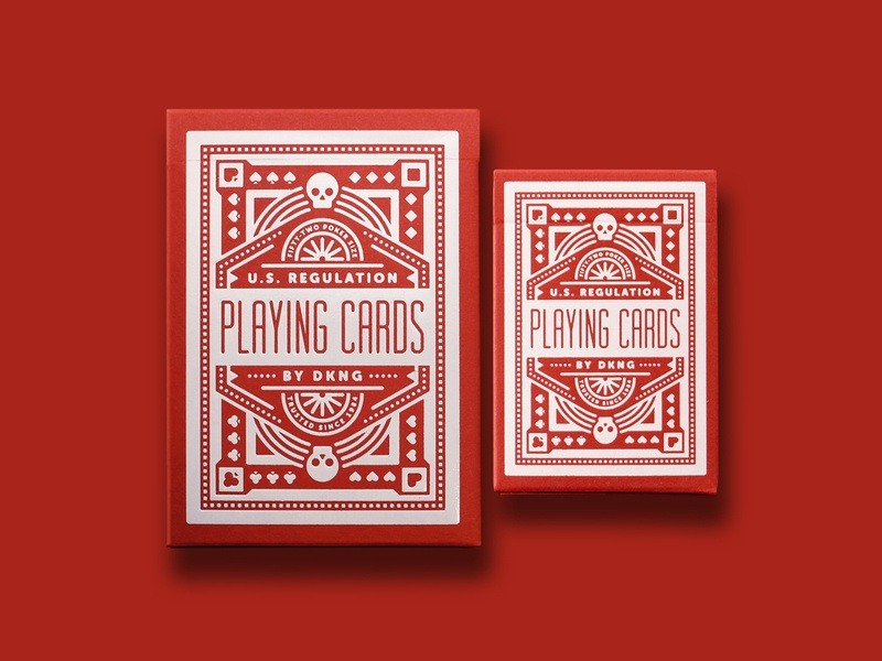 DKNG 'Training Wheels' Playing Cards training wheels red wheel skull red bicycle bike deck playing cards playing card illustration design geometric dkng nathan goldman dan kuhlken