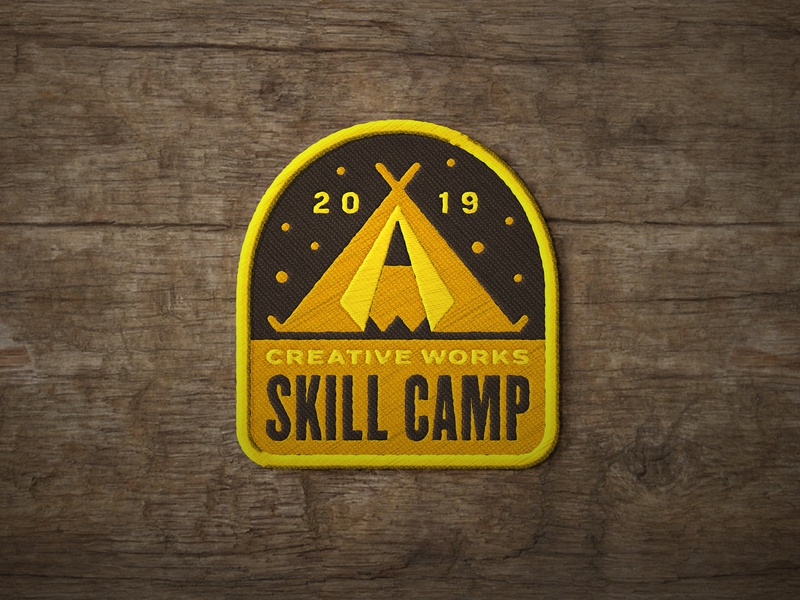 Creative Works Skill Camp creative works camping pencil tent embroidered patch geometric dkng studios vector dkng nathan goldman dan kuhlken