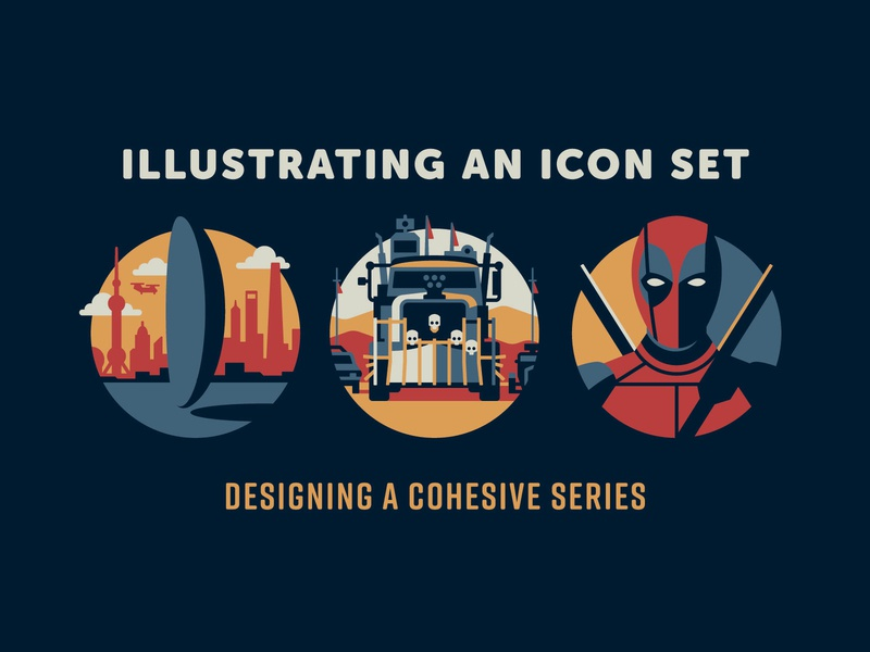 FREE Icon Class skillshare mad max arrival deadpool design icon geometric dkng studios vector dkng nathan goldman dan kuhlken