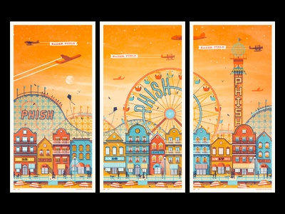 phish atlantic city nj poster series by dkng dribbble dribbble