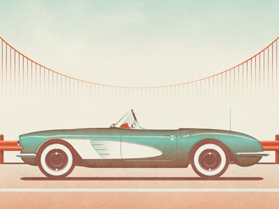 Mystery Project 30 dkng car chevy bridge road fog convertible dan kuhlken
