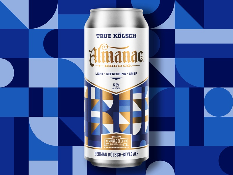 Almanac Beer Co. True Kölsch ale kolsch almanac packaging beer design geometric dkng studios dkng nathan goldman dan kuhlken
