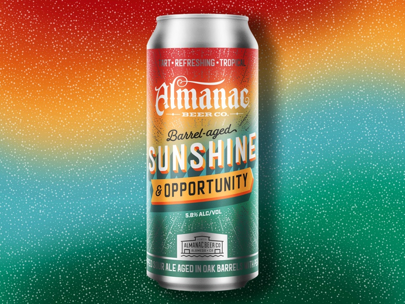 Sunshine & Opportunity sunshine typogaphy text can beer can almanac packaging beer design dkng studios vector dkng nathan goldman dan kuhlken