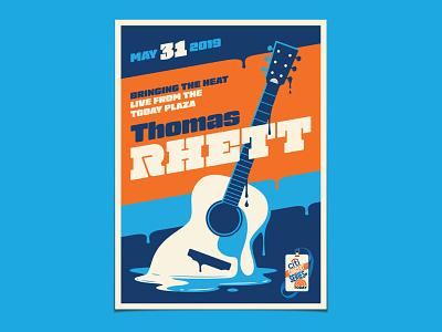 Thomas Rhett thomas rhett acoustic today dripping melting guitar illustration dkng studios poster vector dkng nathan goldman dan kuhlken