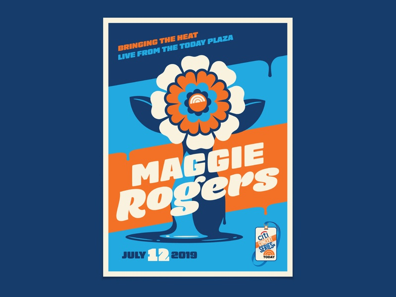 Maggie Rogers today show maggie rogers drip melting vase flower illustration geometric dkng studios poster vector dkng nathan goldman dan kuhlken