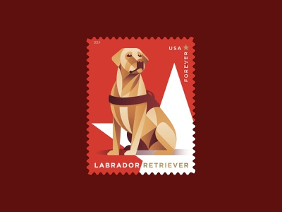 Labrador Retriever canine star philately postage usps stamp dog labrador retriever design illustration geometric dkng studios vector dkng nathan goldman dan kuhlken