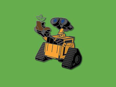 WALL-E Enamel Pins robot brooch enamel pins enamel pin pixar disney eve m-o burn-e wall-e design space icon dkng studios vector dkng nathan goldman dan kuhlken