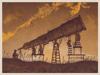 Telescope Art Print