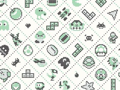 Press Start: 1988′s Old School Video Game Art Show dkng vector 8-bit yoshi mario tetris frogger pacman kirby batman astroids galaga print silkscreen poster dan kuhlken nathan goldman donkey kong space invaders screen print
