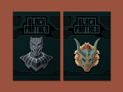 Black Panther Enamel Pins
