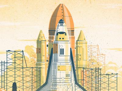 Desert Launch Art Print