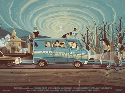Paranorman // Mondo's Oscar Night Poster Series dkng vector texture horror paranorman movie film oscars mondo poster screenprint silkscreen zombies van dan kuhlken nathan goldman