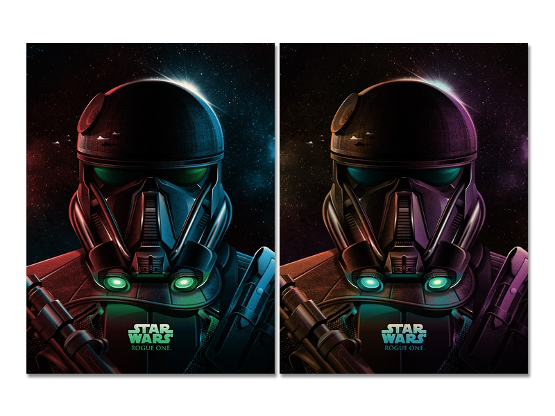 Imperial Death Trooper (Star Wars: Rogue One) Posters death star death trooper rogue one starwars texture silkscreen screen print poster dkng studios vector dkng nathan goldman dan kuhlken