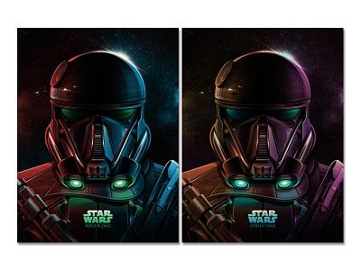 Imperial Death Trooper (Star Wars: Rogue One) Posters death star death trooper rogue one starwars texture silkscreen screen print poster dkng studios vector dkng nathan goldman dan kuhlken