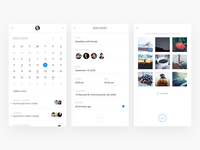 River ux ui product onepage line light interface event dashboard clean app admin
