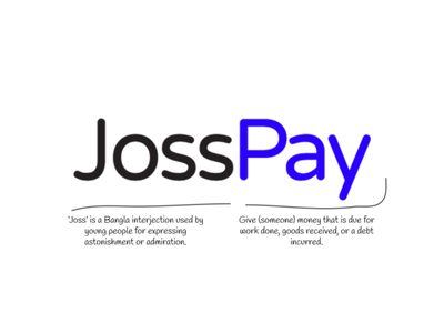 Why it's JossPay? projects failure bangla wallet app wallet logo typography design